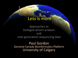 Big data: approaches to biologist