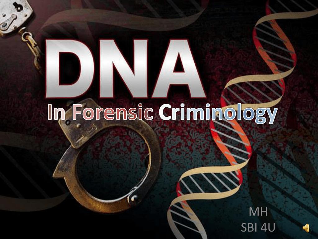 Dna In Forensic Criminology