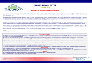 rapid newsletter - Association of Genetic Nurses and Counsellors
