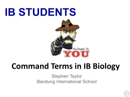 IB Command Terms powerpoint