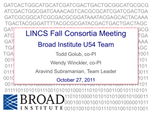 PPT - NIH LINCS Program