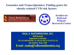 16 Genomics and Transcriptomics Finding genes for obesity