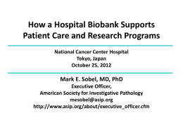 How a Hospital Biobank Supports Patient Care and