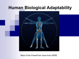 Human Biological Adaptability