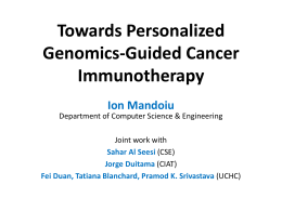 Bioinformatics pipeline for detection of immunogenic cancer