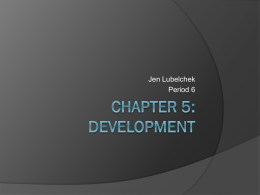 Chapter 5: Development - Deerfield High School