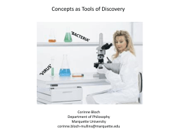 Corinne L. Bloch-Mullins – Concepts as tools of discovery