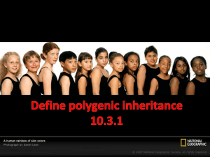Define polygenic inheritance 10.3.1