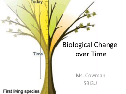 Biological Change over Time