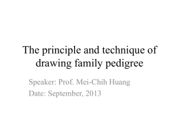 The principle and technique of drawing family pedigree