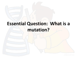 Genetic Mutations PowerPoint