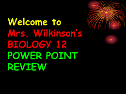 Biology ppt Review