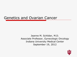 Hereditary Breast/Ovarian Cancer Syndromes: Clinical Management