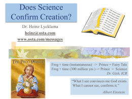 Does Science Confirm Creation? - Apologetics Forum of Snohomish County