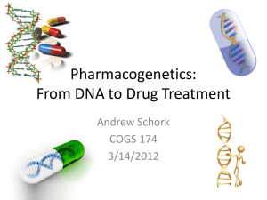 Pharmacogenetics - UCSD Cognitive Science