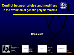 Conflict between alleles and modifiers in the evolution of