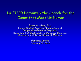 Genomics Human Genome Evolution 2012