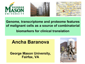 Genome, transcriptome and proteome features of malignant cells