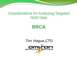 Considerations for Analyzing Targeted NGS Data – BRCA