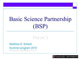 matthias-schedl - Basic Science Partnership at Harvard Medical