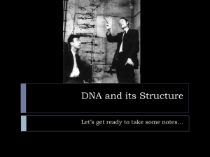 DNA and its Structure