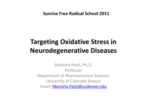 Targeting Oxidative Stress in Neurodegeneration
