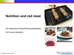Nutrition and red meat.