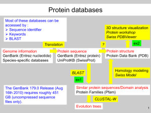 Where to find protein sequences ?