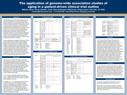 The application of genome-wide association studies