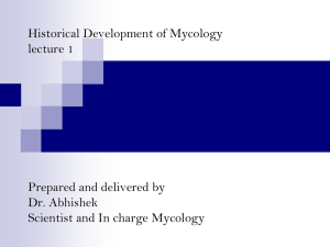 Historical development of veterinary mycology