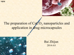 The preparation of CaCO3 nanoparticles and application in drug