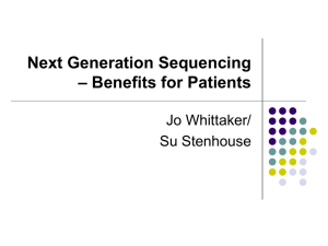 Next Generation Sequencing - Benefits for Patients