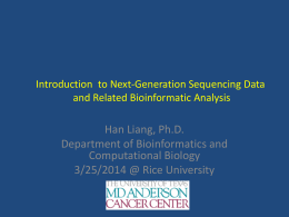 A general introduction to next-generation sequencing platforms