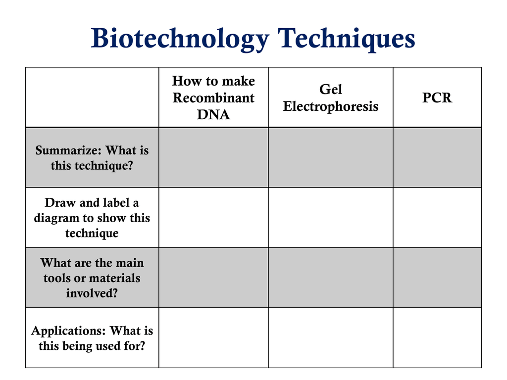 Can You Correctly Place The Labels In This Diagram That Summarizes The Process Of Dna Profiling.Biotechnology