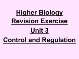 higher biology – extended response questionshigher biology   hyndland secondary school