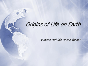 Origins of Life PowerPoint
