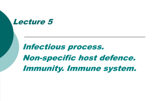 Lecture 7 Host Defense Against Infection