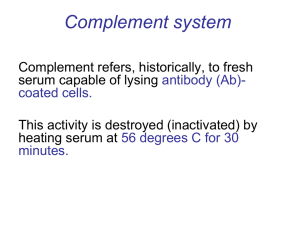 ‍Complement system