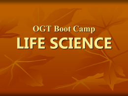 OGT Boot Camp LIFE SCIENCE