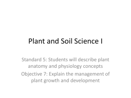 Plant and Soil Science I
