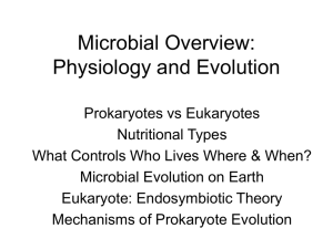Microbial Overview: Physiology and Evolution