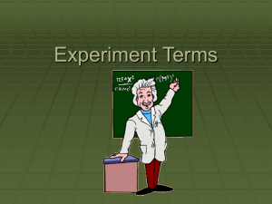experiment terms