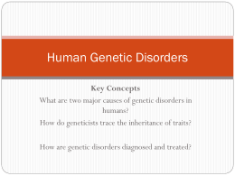 Human Genetic Disorders PPT