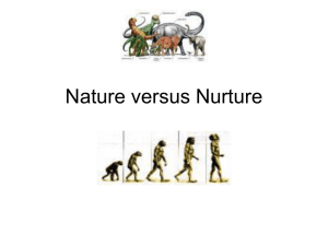 PPT Nature V Nurture Debate