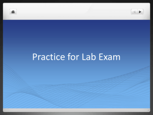 Practice for Lab Exam