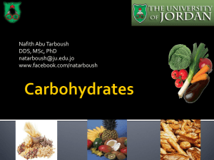 Carbohydrates - JU Med: Class of 2019