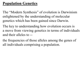 Population genetics and microevolution