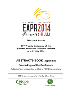 EAPR2014 Abstracts Book
