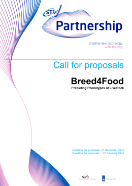 Call for proposals Breed4Food