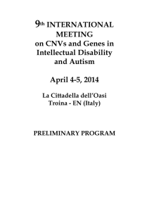 9th INTERNATIONAL MEETING on CNVs and Genes in Intellectual